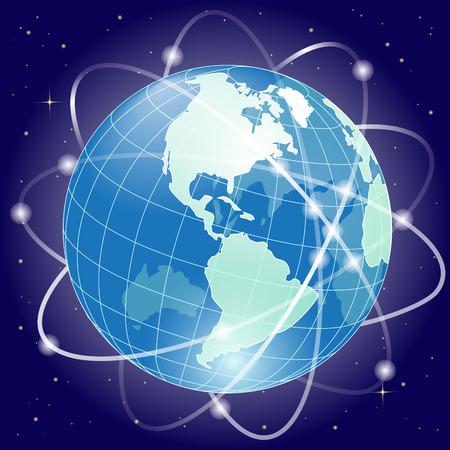 web development: globe