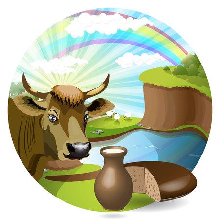 leche y derivados: leche y vaca