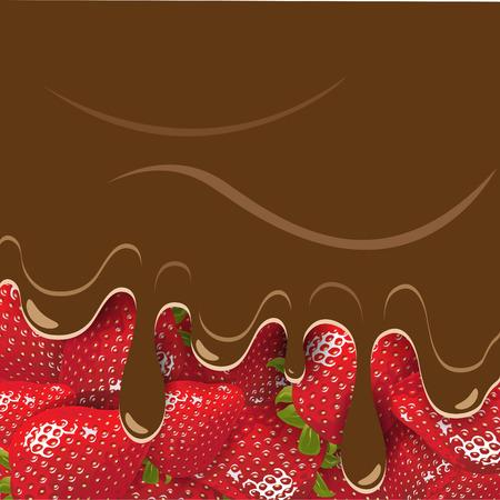 sweetmeat: strawberry and chocolate Illustration