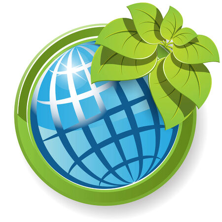 globe with flower Stock Vector - 7707646