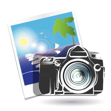 photoelectric: photo camera Illustration