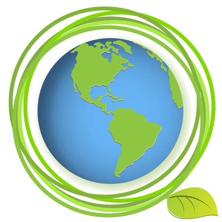 globe with plant Stock Vector - 7784152