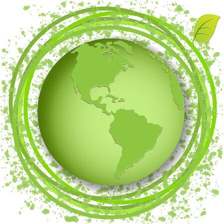 green globe Stock Vector - 7784174