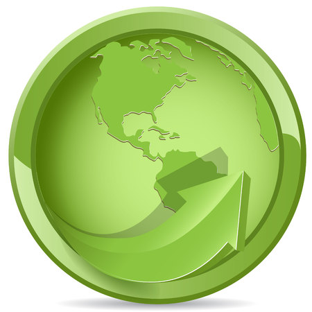 green globe Stock Vector - 7784173