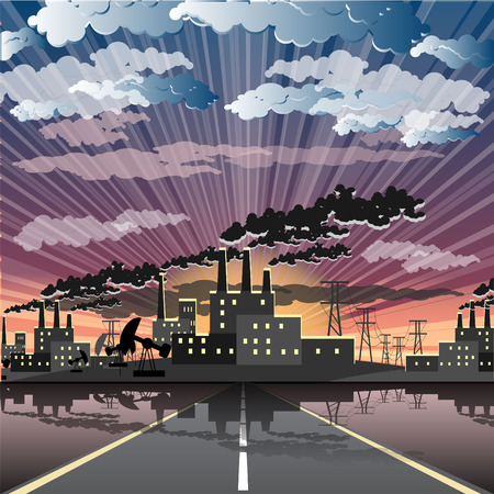 industrial city Stock Vector - 7893020