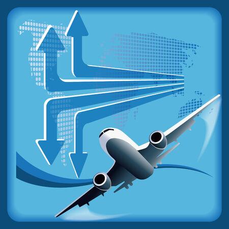 plane Stock Vector - 7893066