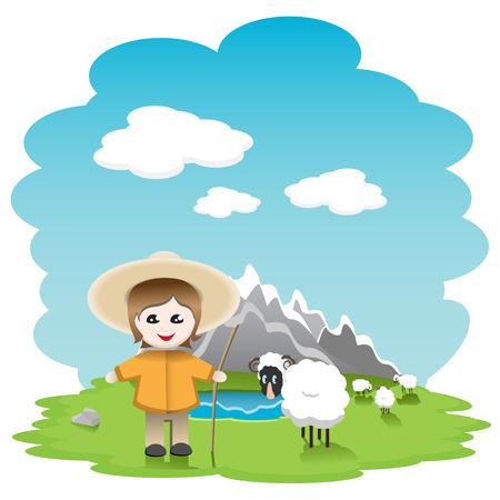 shepherd sheep: shepherd