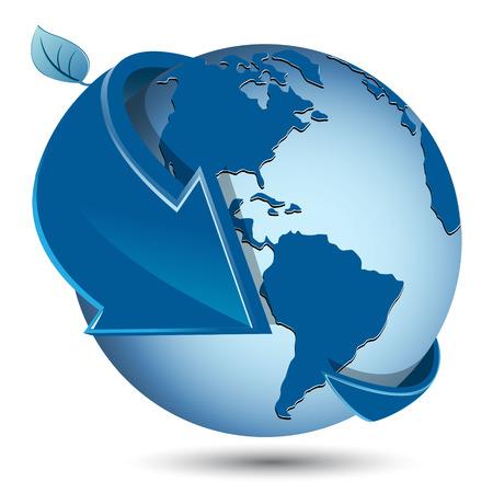 globe arrow: blue globe