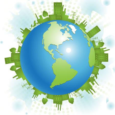 green planet: Plan�te verte  Illustration
