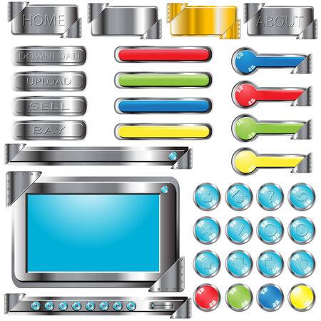 button Stock Vector - 8002901