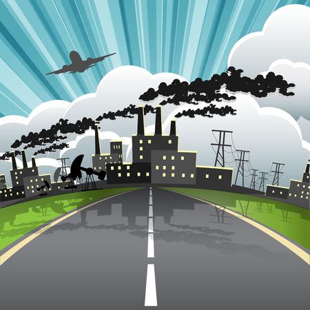 cloud industry: industrial city