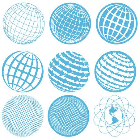 ic�ne globe  Illustration