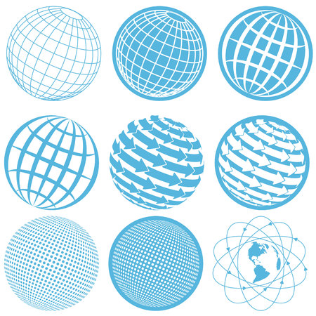 shield logo: icon globe Illustration