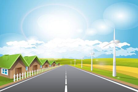 renewed: renewed energy Illustration