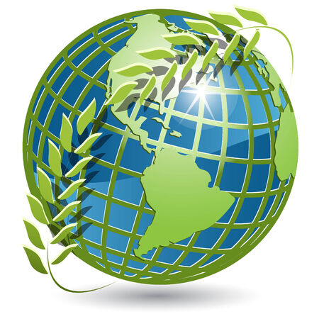 planisphere: globo con la corona  Vettoriali