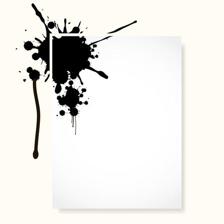 inkblot: sheet with inkblot
