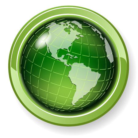 green globe: globe