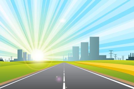 road in city Stock Vector - 8494252