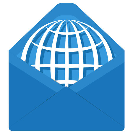 globe in envelope Vector