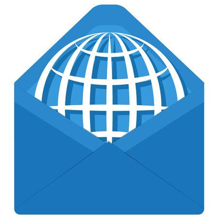 posted: globe in envelope