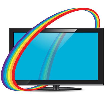 set de television: set de televisi�n Vectores