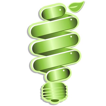 green economy: eco light bulb