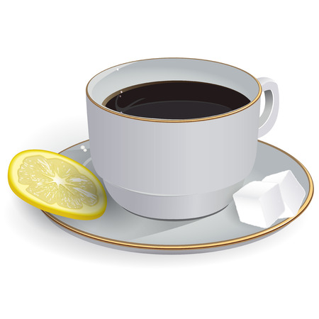 boiling water: Tea with lemon