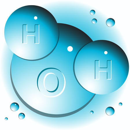 hydrogen: molecule of water