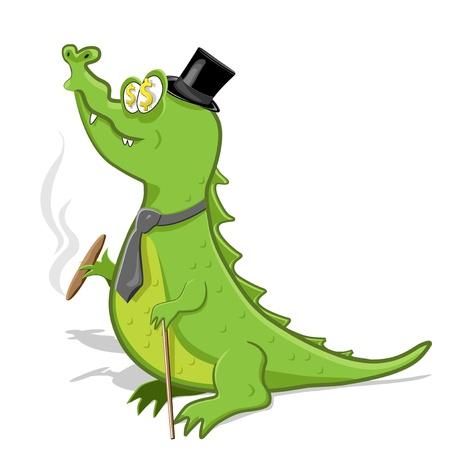 capitalist: crocodile Illustration