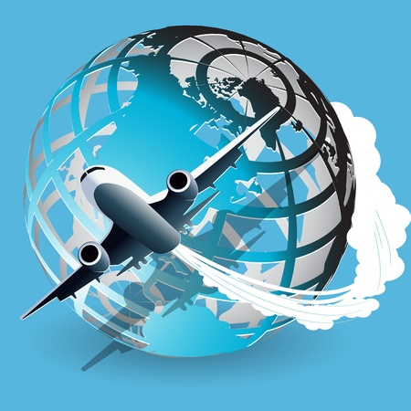 planeta verde: avión Vectores