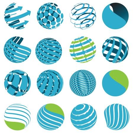 globo terraqueo: Globo de iconos