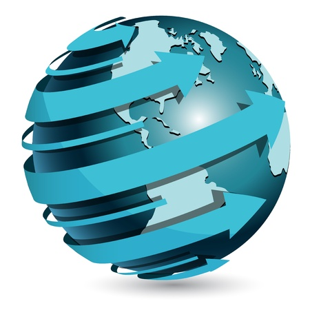 protect concept: blue globe