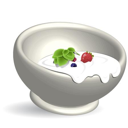 produits laitiers Illustration