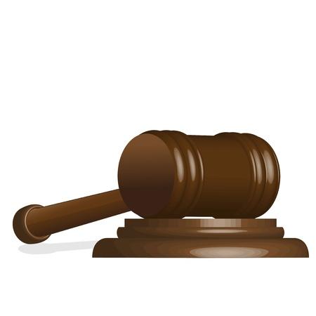 illustration, wooden gavel to judges on white background Stock Vector - 10140714