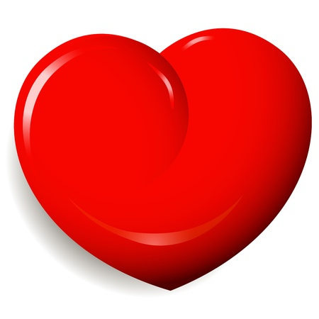illustration, symbolic red heart on a white background Vector