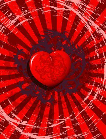 st valentines day: illustration, holiday postcard for st. Valentines day Illustration