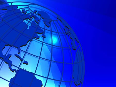mainland: illustration texture globe on net like blue background