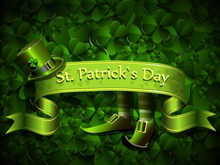clover banners: abstract illustration to the day of saint Patrick