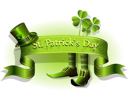 st  patrick: abstract illustration to the day of saint Patrick