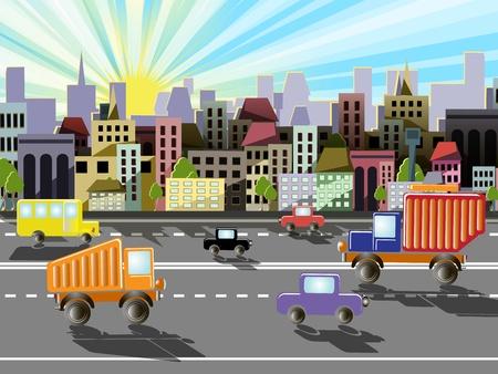 abstrakte Darstellung einer Stadt auf dem Hintergrund