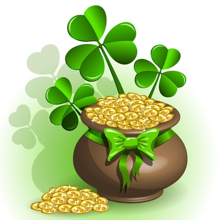abstract illustration to the day of saint Patrick Vector