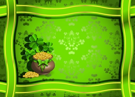 clover banner: abstract illustration to the day of saint Patrick