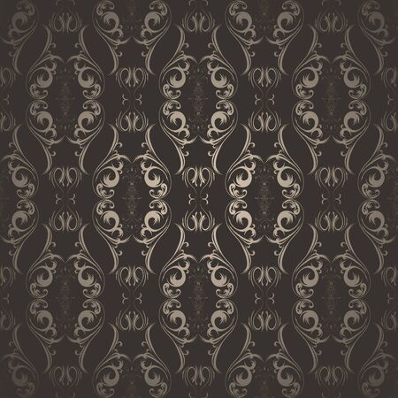 seamless illustration of an abstract brown pattern Vector