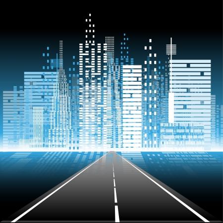 Darstellung der Weg zum Nachtleben in der Stadt
