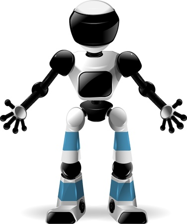 abstract illustration of a robot with black glass Vector