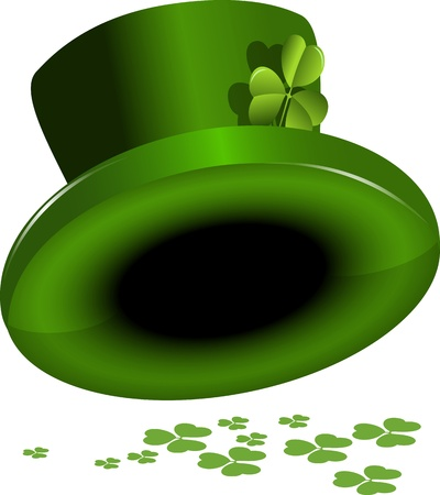 illustration green St. Patrick's Day hat with clover Stock Vector - 17213247