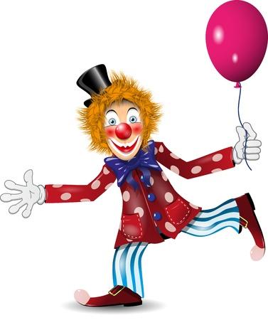 redheaded: ilustraci�n pelirroja alegre payaso con sombrero negro