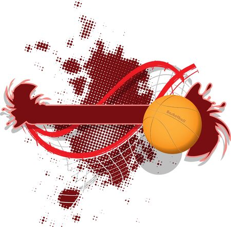 illustration of abstract sport background with a basketball Vector