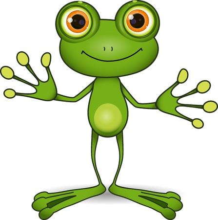 大きな目のかわいい緑のカエルに立って 写真素材 - 22181929
