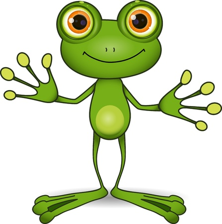standing cute green frog with big eyes Imagens - 22181929